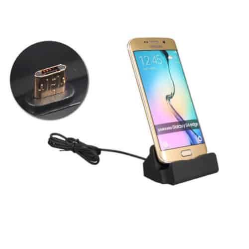 Επιτραπέζιος Φορτιστής Micro USB Χρώματος Μαύρο Hoppline HOP1000732-1 Hoppline
