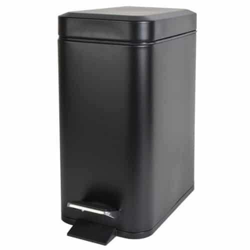 Κάδος Απορριμάτων Μπάνιου 5lt Slim Type Μαύρο Bormann BTW2030 025849