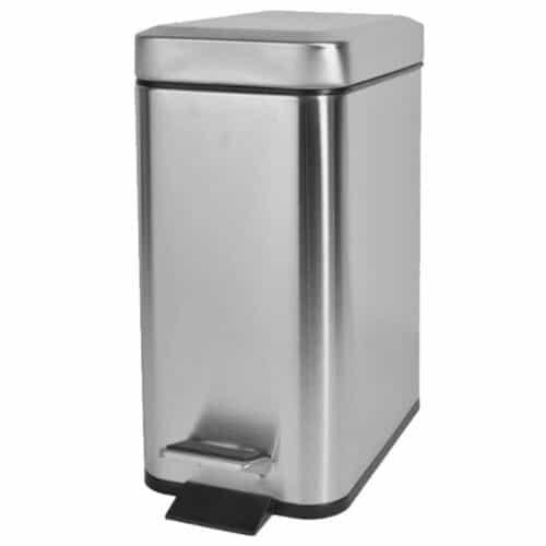 Κάδος Απορριμάτων Μπάνιου 5lt Slim Type Χρωμίου Bormann BTW2050