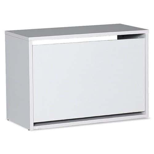 Παπουτσοθήκη ανακλινόμενη Step 6 ζεύγων σε χρώμα λευκό 60x30x42εκ