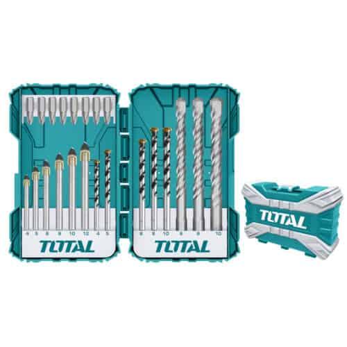 Σετ Τρυπάνια και Μύτες 22τεμ, TOTAL TACSDL12201