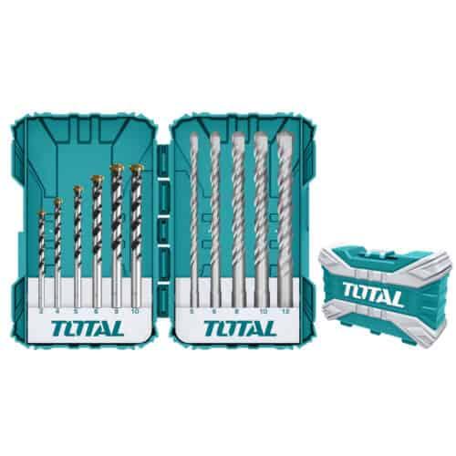 Σετ Τρυπάνια Μπετού SDS-PLUS 11τεμ, TOTAL TACSDL31101